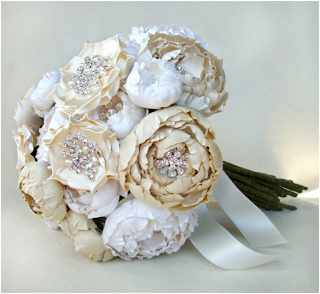 wonderful silk flower bridal bouquet
