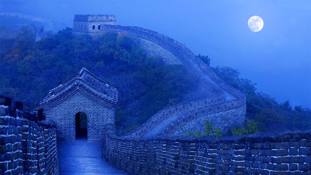 Lua Cheia na grande muralha da China