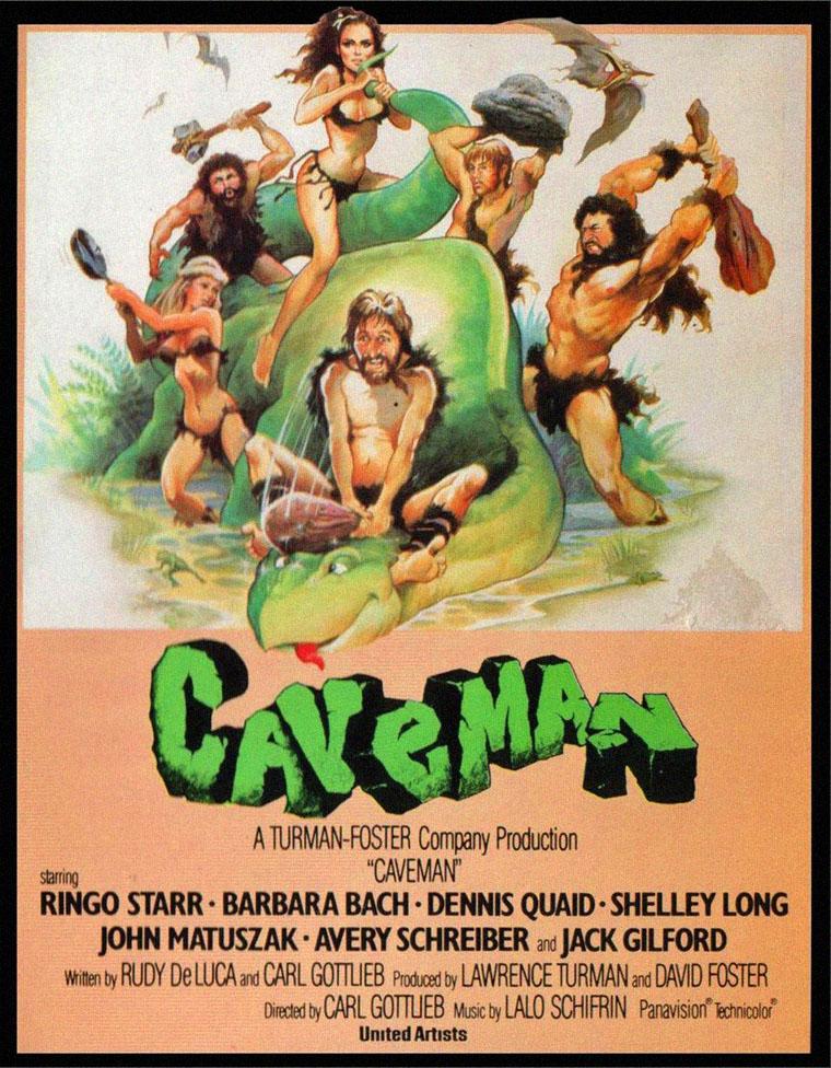CAVEMAN - DER AUS DER HÖHLE KAM (1981) mit Ringo Starr und Barbara Bach. Quelle: United Artists / MGM