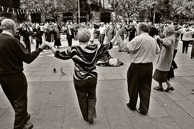 Big Sardana Circle of Elderly Dancers