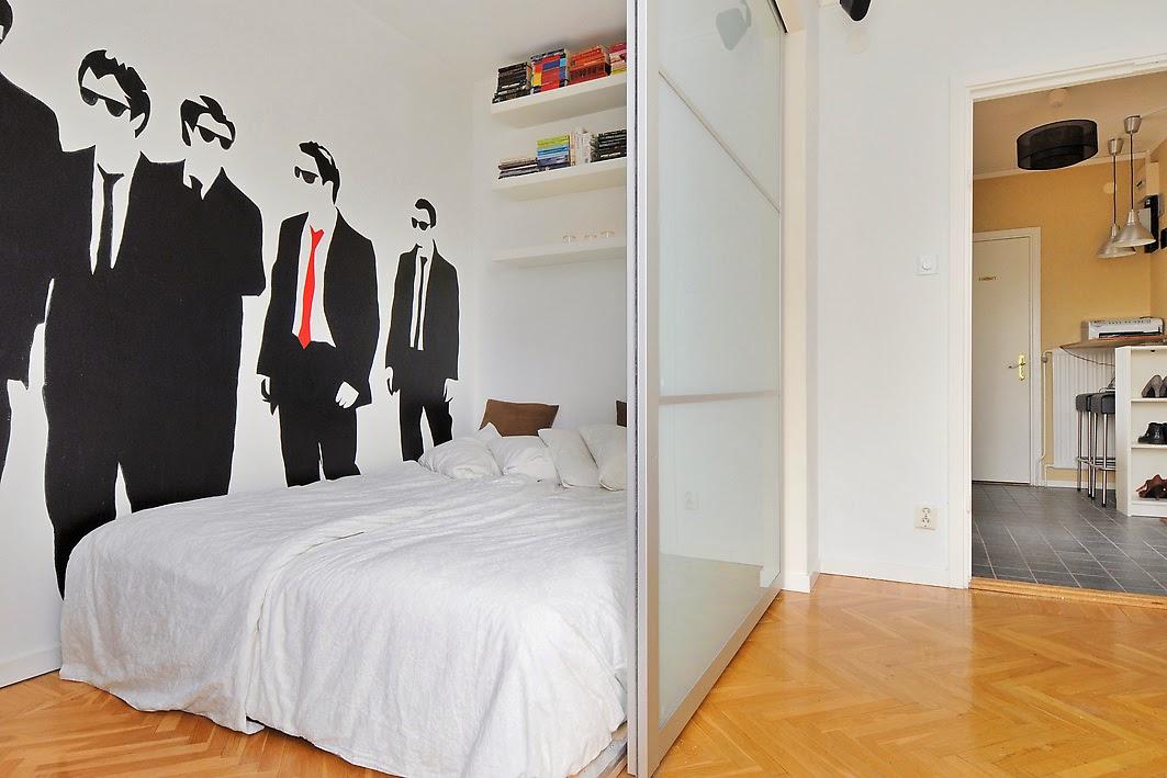Blog wnętrzarski - design, nowoczesne projekty wnętrz: Kawalerka - wydzielenie sypialni za ...