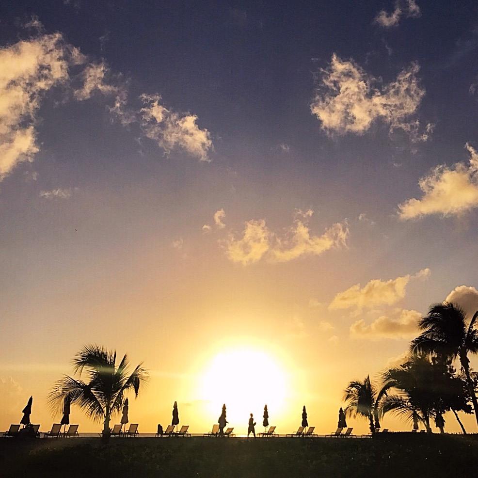 Nevis Island at sunset