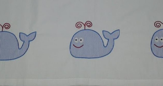 Applique whale baby bed sheet