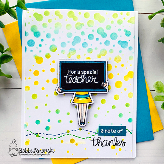 For a special teacher by Bobbi features Classy Teachers and Bubbly by Newton's Nook Designs; #newtonsnook