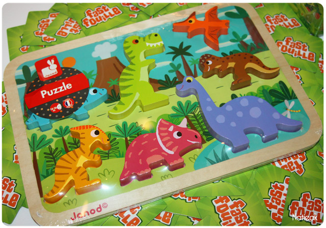 Puzzle Chunky dinosaures de Janod