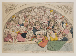The Gods at Covent Garden in 1805, caricature - copyright Victoria and Albert Museum