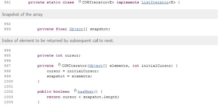 Java CopyOnWriteArrayList class