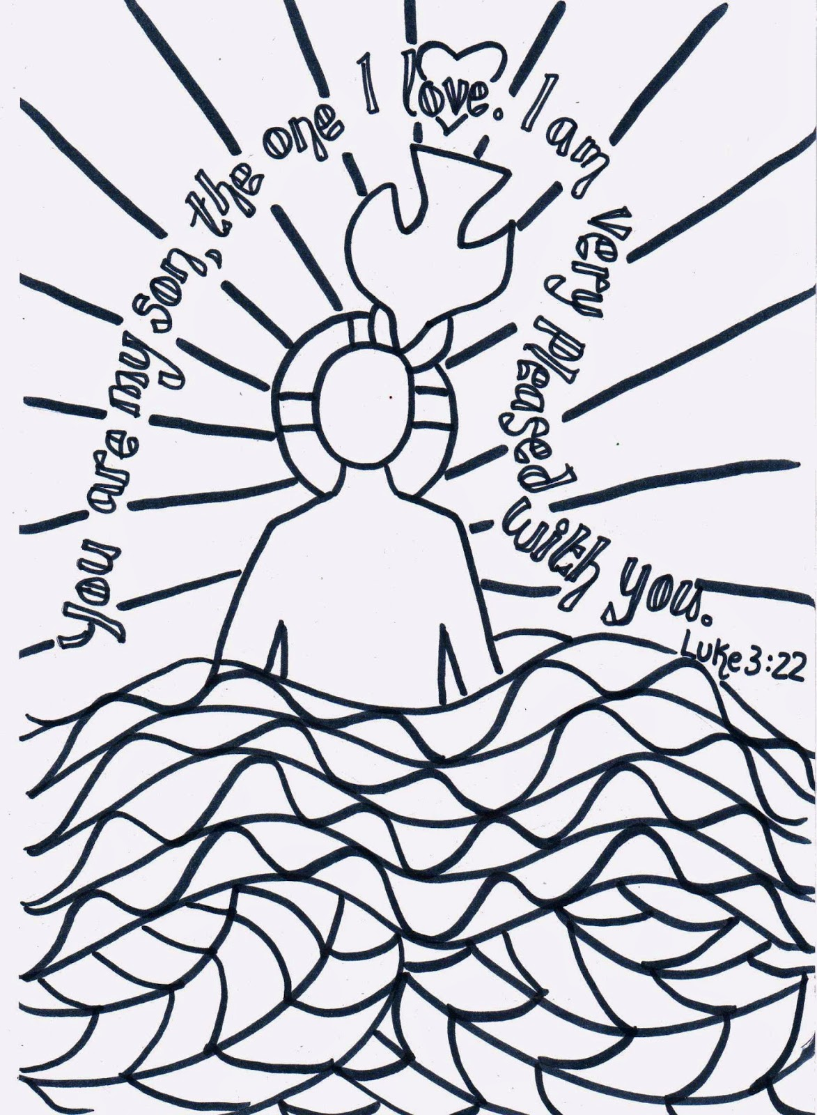 Jesus Sends Out The 72 Coloring Page
