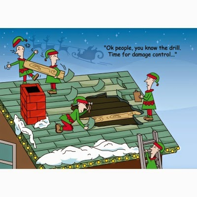 Roofers work on holidays too