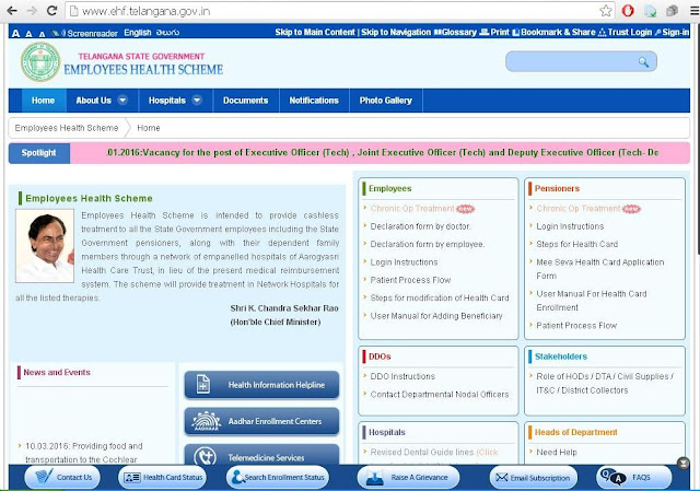 Download Permanent Telangana Health Cards for govt employees pensioners new health cards login,hospital list,www.ehf.telangana.gov.in ehs website  TS State health scheme online Teachers How to Download Telangana Employees Health Card from www.ehf.telangana.gov.in Instructions to Download Permanent Telangana Health Cards in online EHS web portal TS EHS Official website TS Health Scheme Cards Teachers Health Cards Government Employees Health Card download employees health cards, pensioners health cards, permanent  health cards, , ts  health scheme cards download, health cards telangana teachers, health cards login,hospital list, ehf telangana employees health scheme telangana