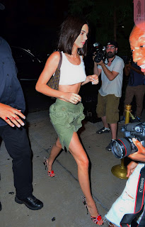 Kendall Jenner looks super sexy  beautiful tits cleavages in Mini Skirt at Cipriani