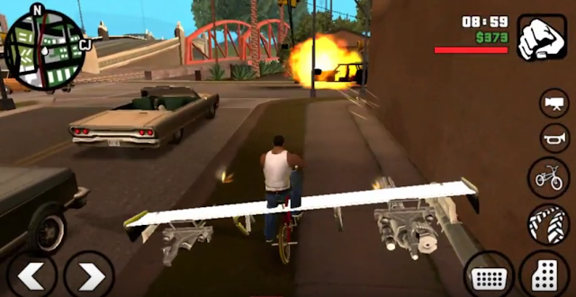 attach weapons in cars and vehicles mod gta san andreas mobile