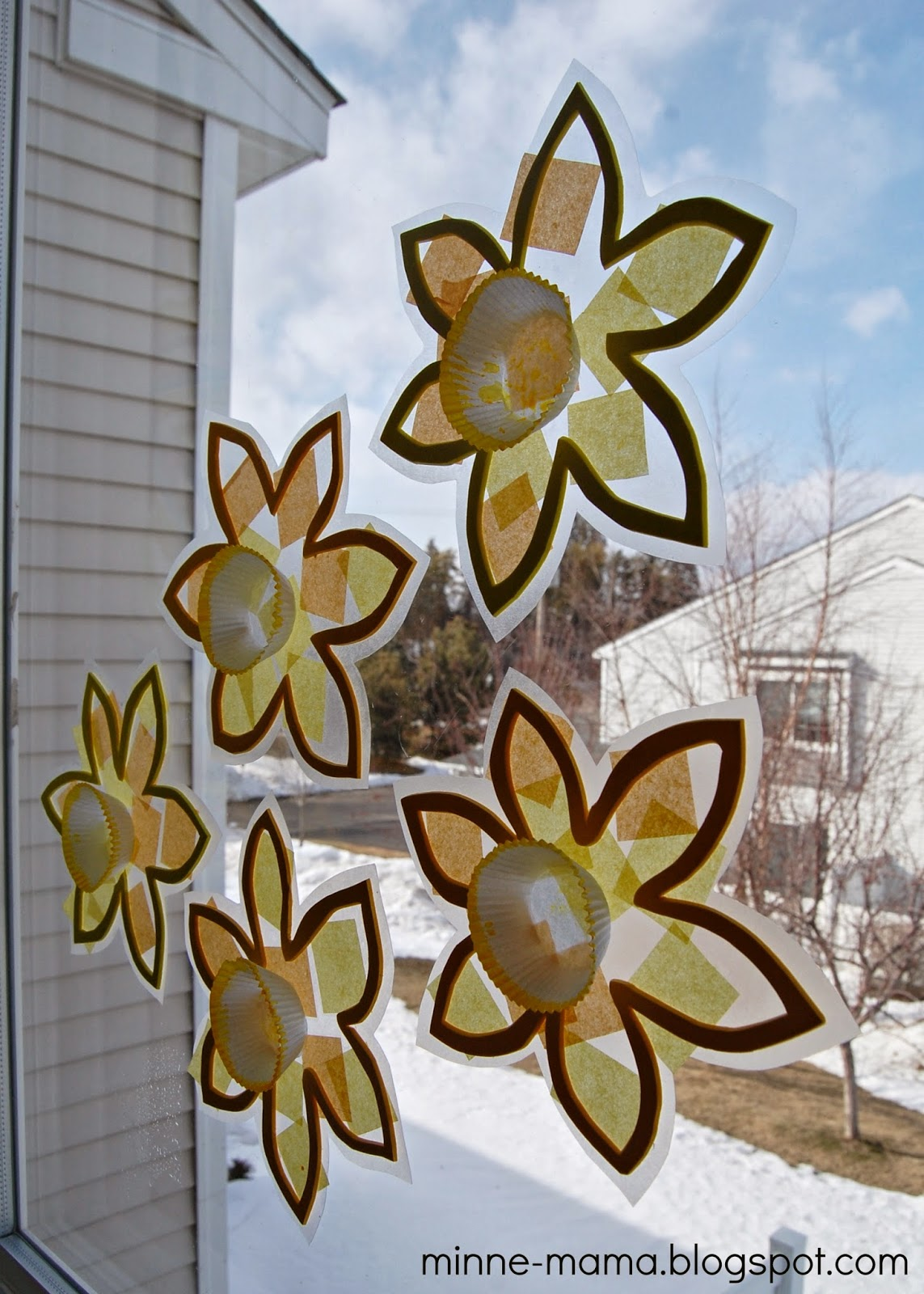 Guest Post Toddler Made Spring Suncatchers