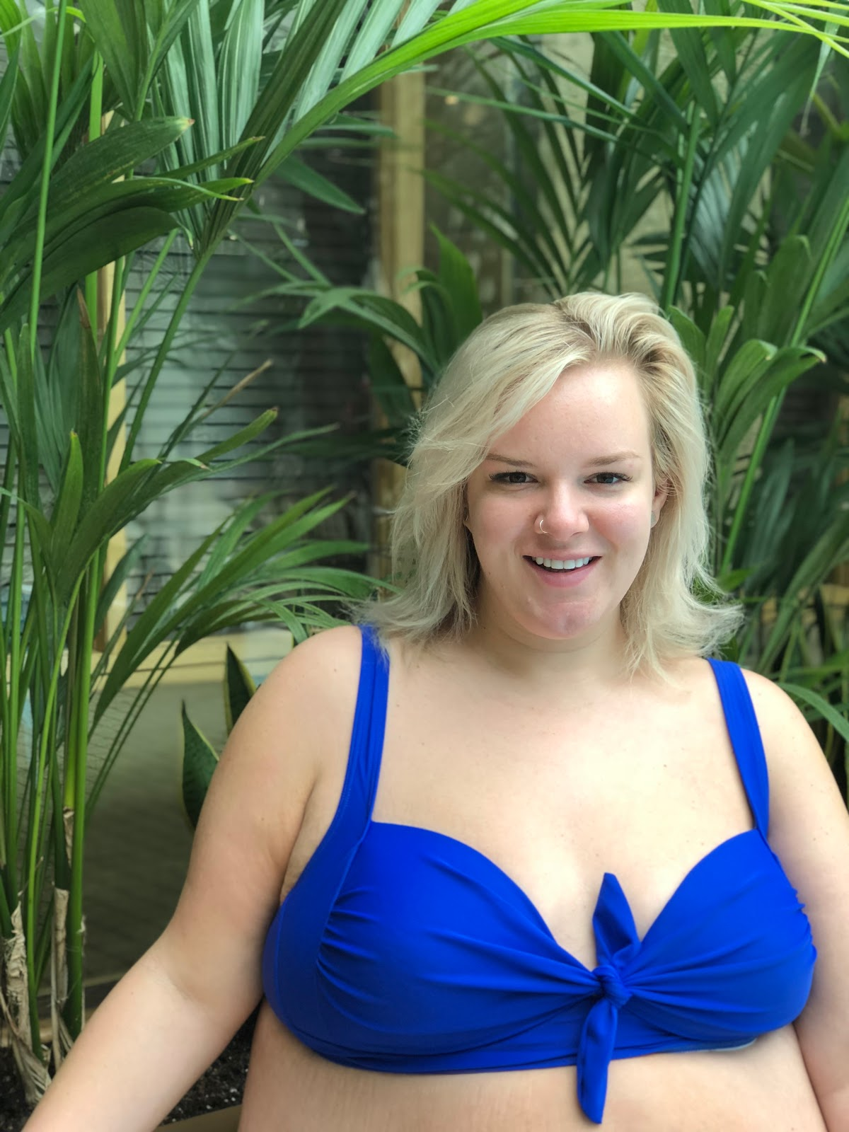 UK Plus Size Swimwear Blogger WhatLauraLoves wearing Simply Be at Matfen Hall