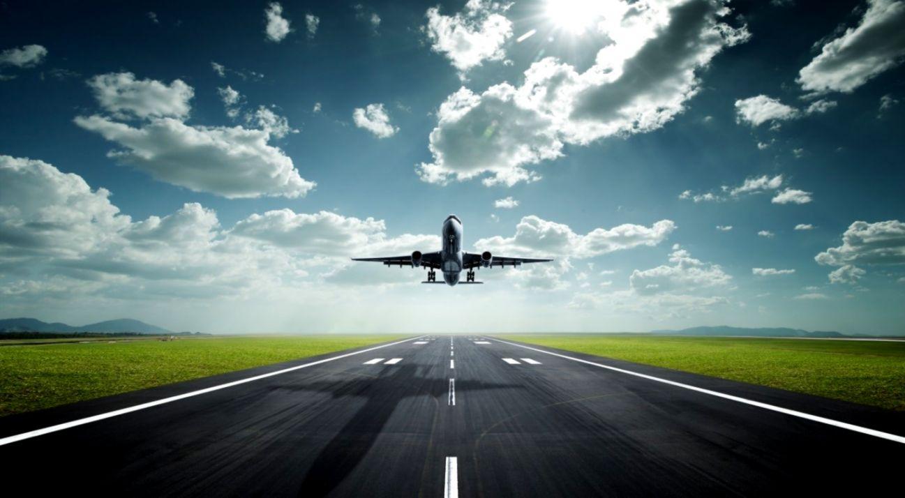 Abstract Landing Airplane Hd Wallpaper Wallpapers Desktop