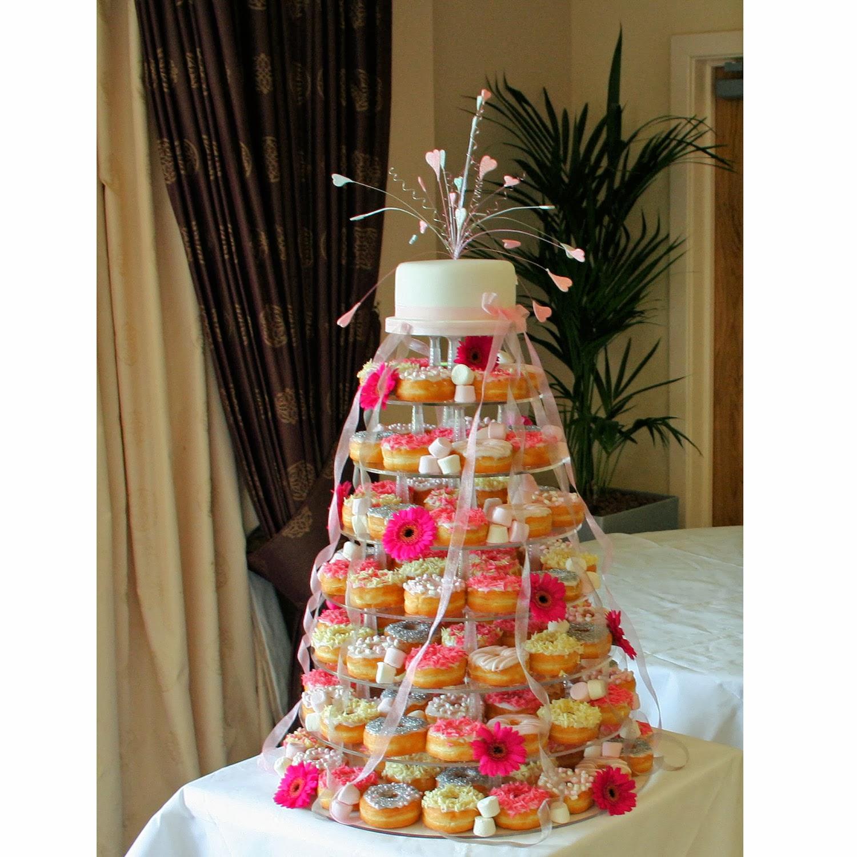 Donut Wedding Cake.Rainbow Sugarcraft Latest Wedding Trend Doughnut Wedding