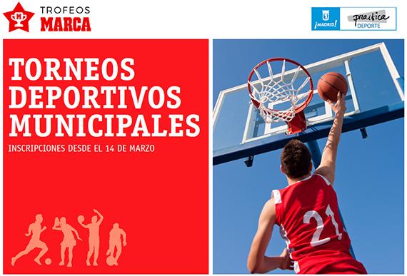 Torneos Deportivos Municipales. Inscripciones desde el 14 de marzo