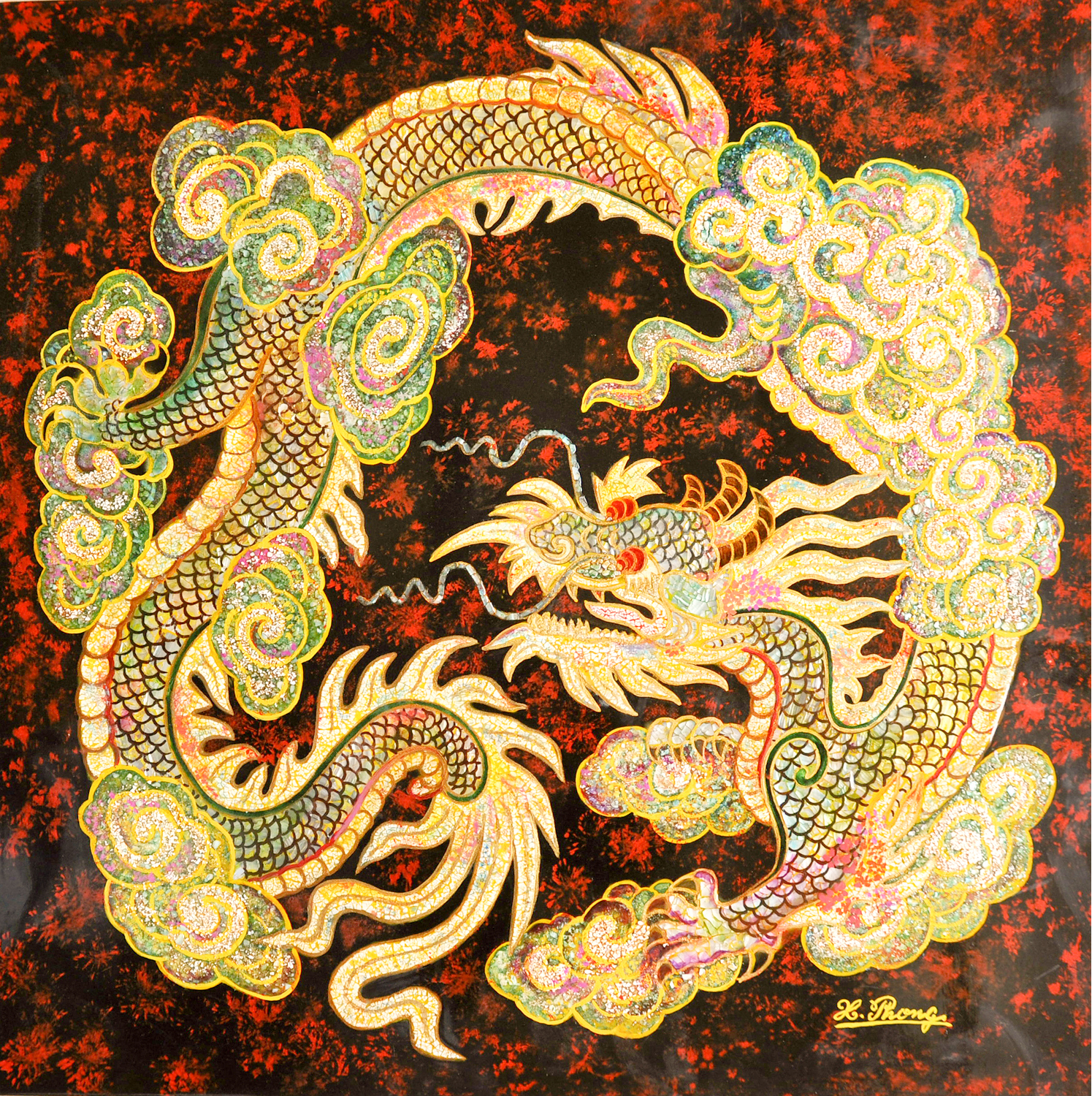 Vietnamese Dragon: Vietnamese Lacquer Paintings