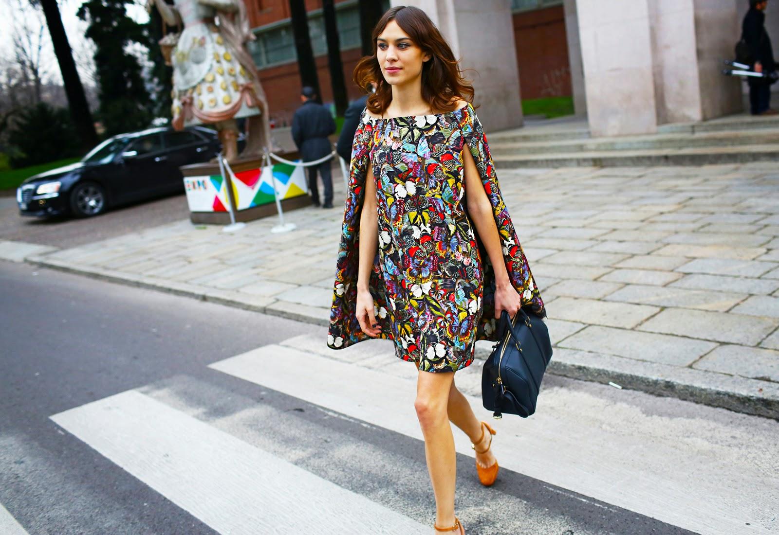 Street Style Milan Fashion Week Fall 2014 - FRONT ROW