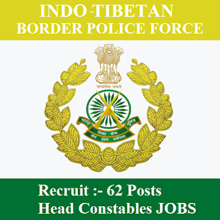 Indo-Tibetan Border Police Force, ITBP, Ministry of Home Affairs, Force, Head Constable, 12th, freejobalert, Sarkari Naukri, Latest Jobs, itbp logo