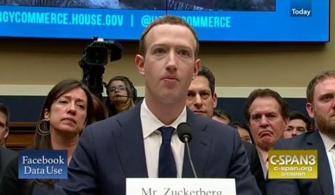 Audition de Mark Zuckerberg au Sénat américain