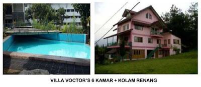 Villa Di Lembang  Untuk Keluarga Fasilitas Kolam Renang