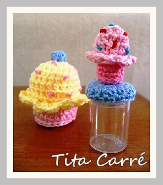 Micro Cupcake para um micro pote