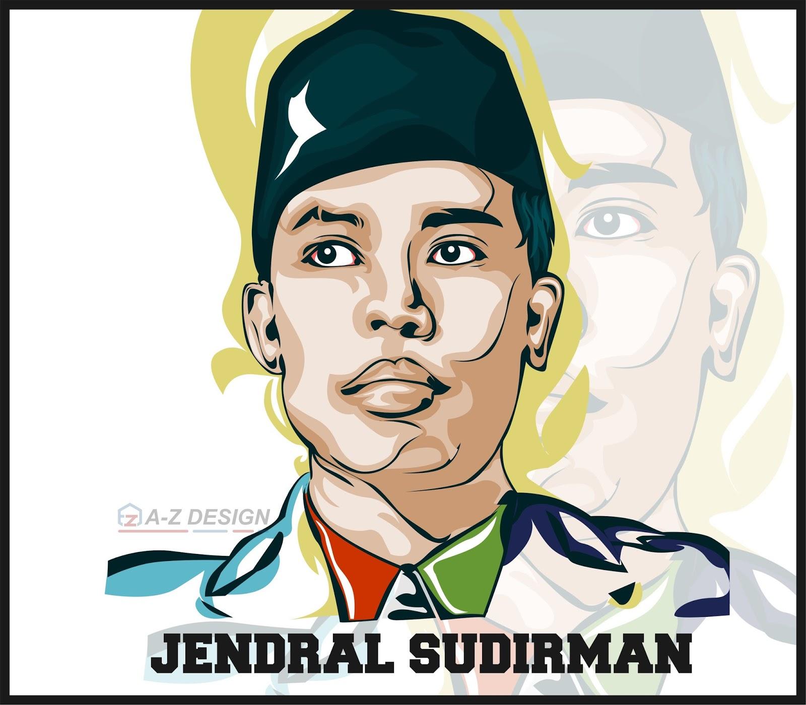 Vector Jendral Sudirman POP ART Galeri AZ Design