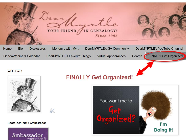 Dearmyrtle S Genealogy Blog Finally Get Organized