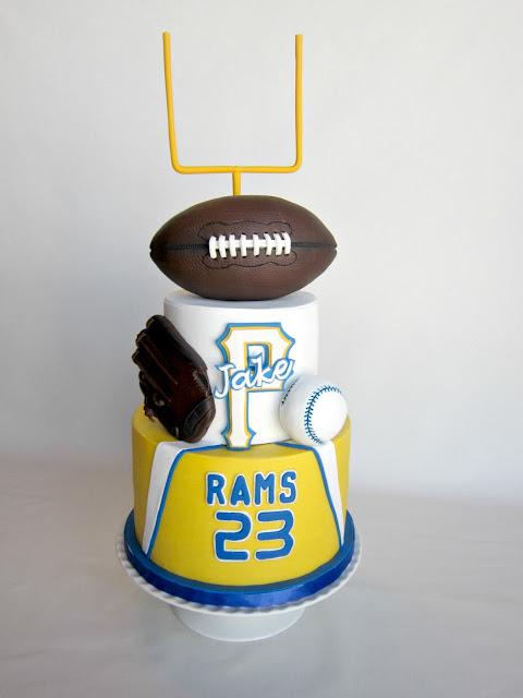 Delectable Cakes Footballbaseball Birthday Cake