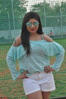 Madhulagna Das looks super cute in White Shorts and Transparent Top 32.JPG