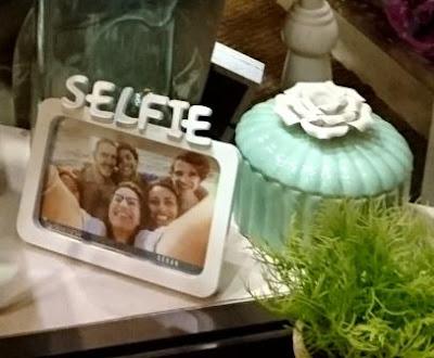 Marco fotos Selfie para el más original y cerámica tapa flor
