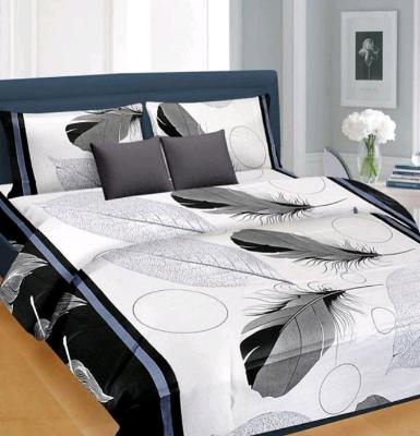 Poly Cotton 1 Double Bedsheet With 2 Pillow Covers With 140 Tc