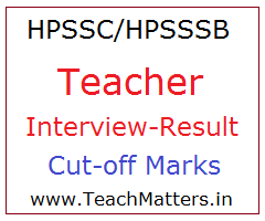 image : HPSSC/HPSSSB Teacher Result 2019 Cut-off Marks @ TeachMatters