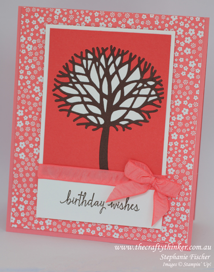 Stampin Up, #thecraftythinker, Thoughtful Branches, Build a Birthday, Stampin Up Australia Demonstrator