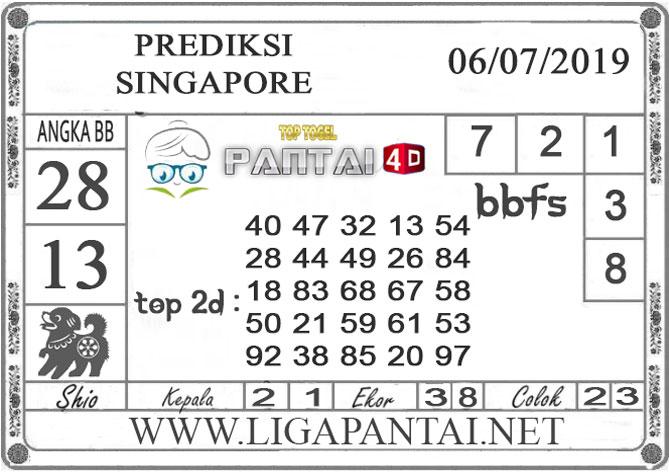 "PREDIKSI TOGEL ""SINGAPORE"" PANTAI4D 6 JULI 2019"