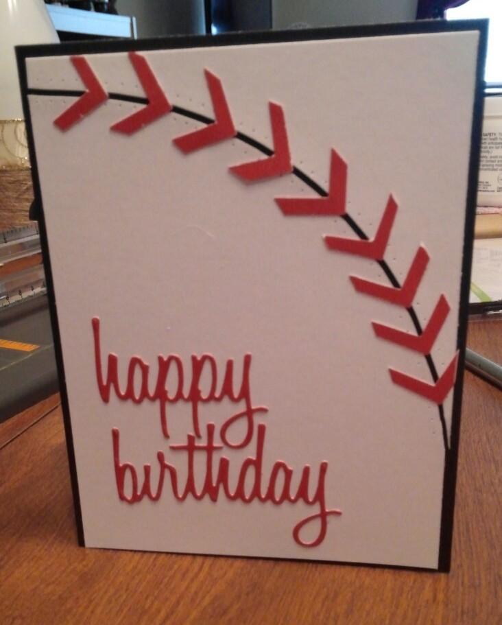 Sheryls Crafting Corner Baseball Sports Theme Birthday Card