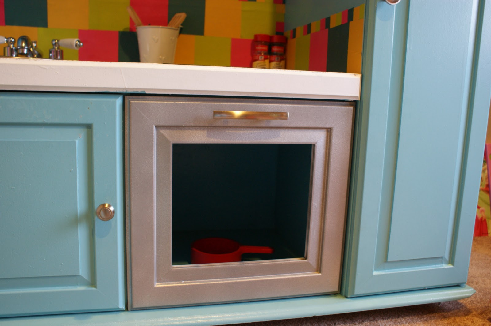 DIY Play Kitchen Entertainment Center