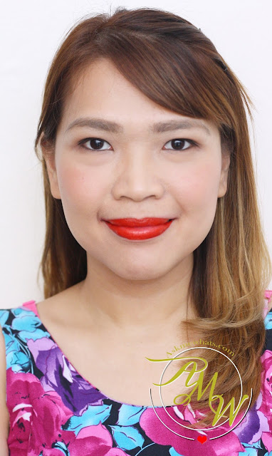 a photo of Cathy Doll Geisha Hanazakari Lip Matte Coral Red
