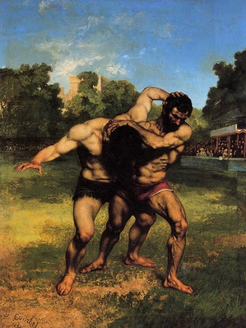 G. Courbet, I lottatori,