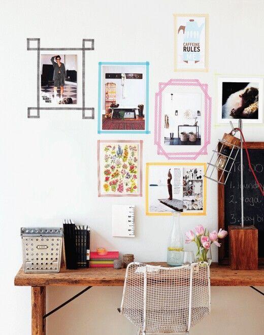 claves para decorar habitación de alquiler con washitape