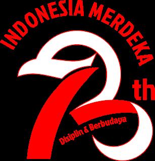 Logo 73 tahun Indonesia Merdeka - ORCHIDSIGN