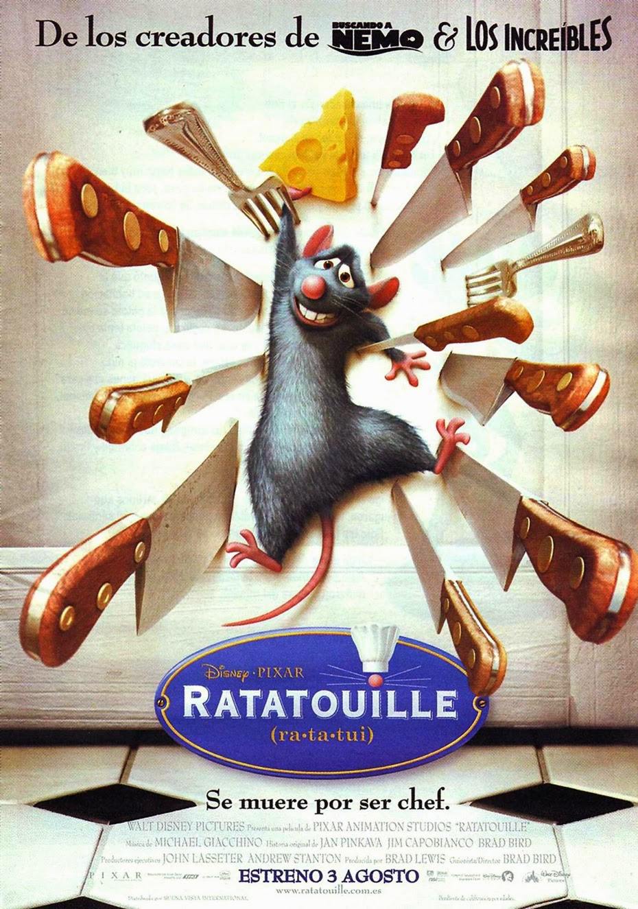 Ratatouille en el fancine