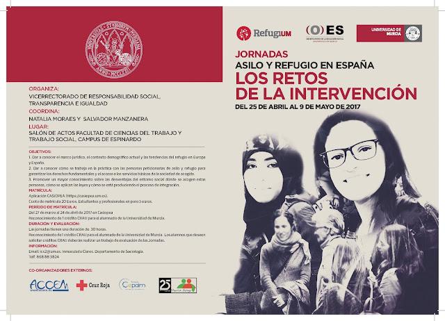 """Jornadas  """"Asilo y Refugio en España. Los Retos de la Intervención""""."""