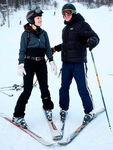 Swedish royals at holiday