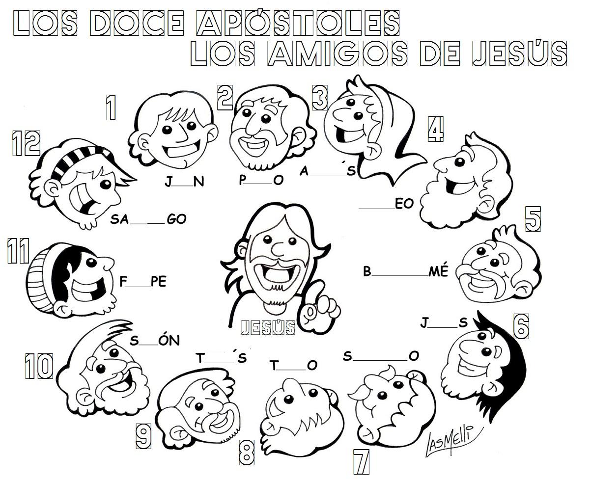 Dibujos De Los Doce Apostoles