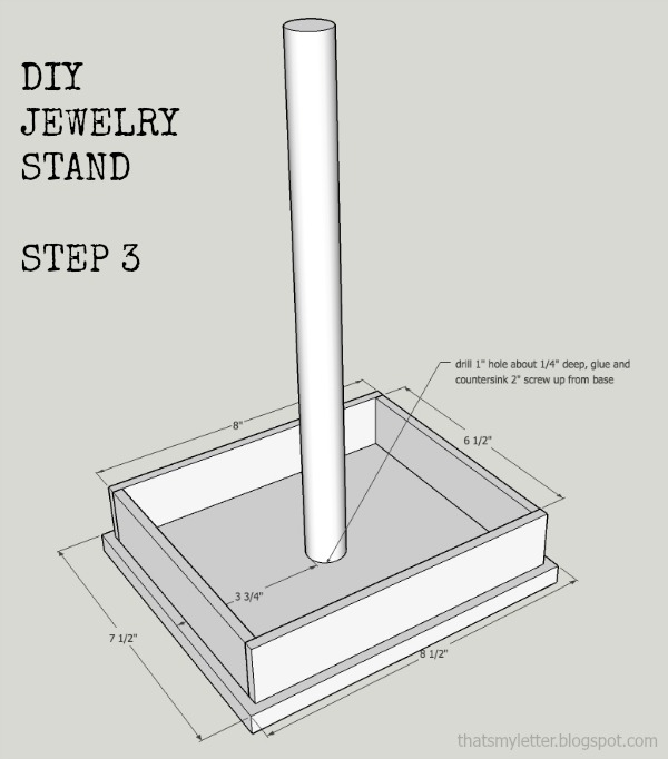 how to build a jewelry stand