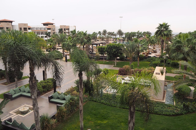 Courtyard of resort