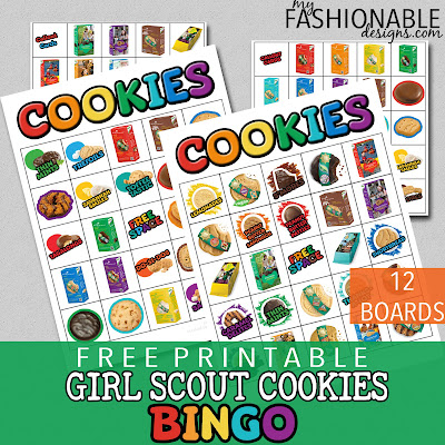 photo regarding Abc Bingo Printable titled My Modern Plans: No cost Printable Lady Scout Cookies