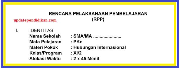 Rpp Pkn K13 Kelas Xi Semester 2 Tahun 2018 2019 Update Info